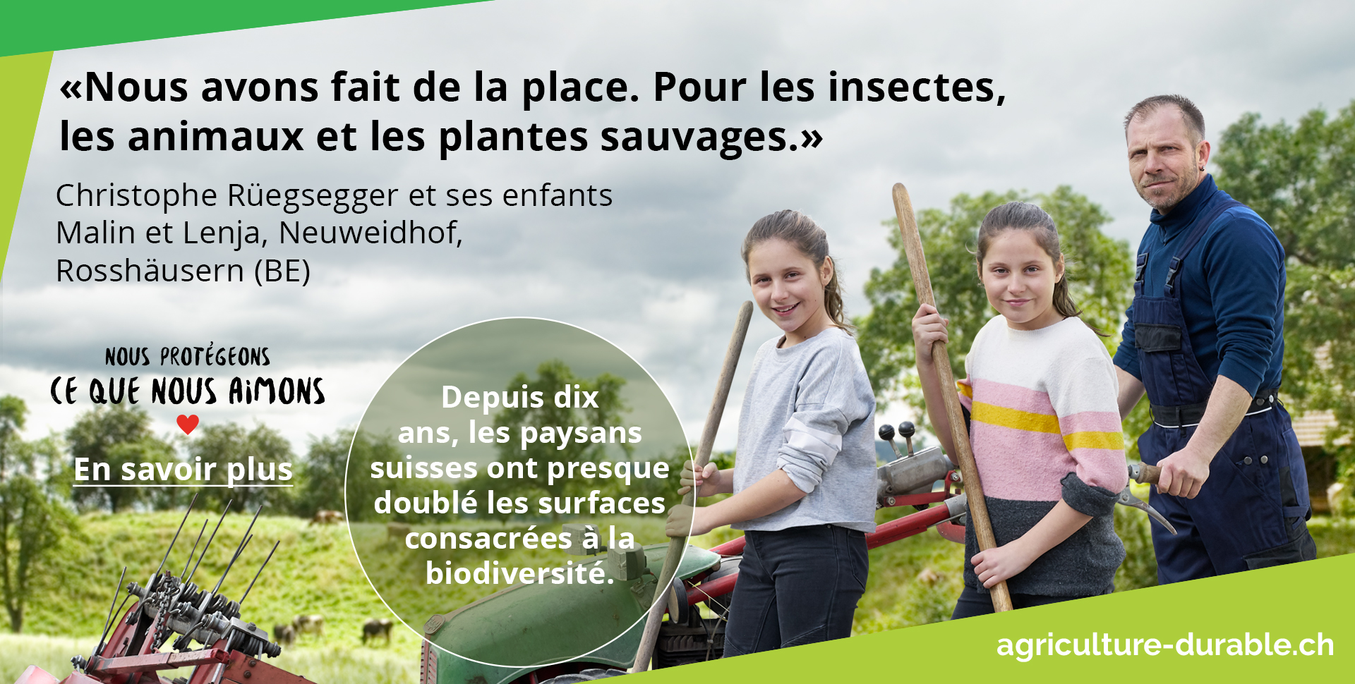 Depuis dix ans, les paysans suisses ont presque doublé les surfaces consacrées à la biodiversité.