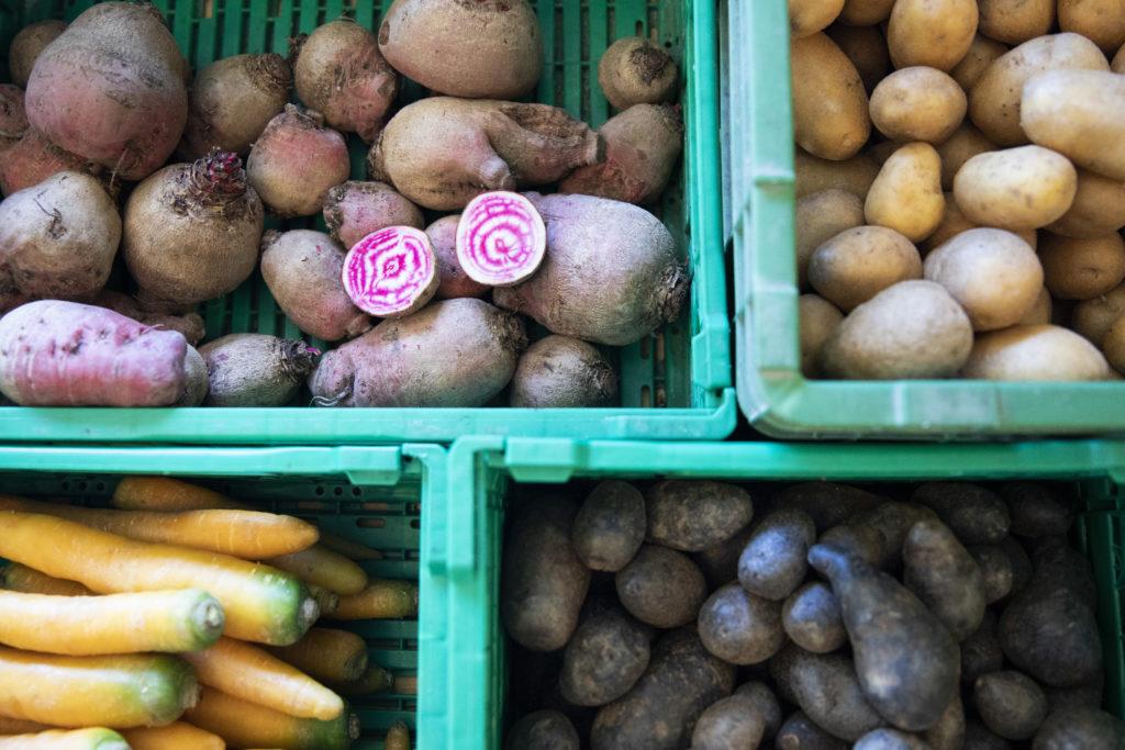 L'agriculture travaille. Commerce à la ferme, vente directe, Jardin de Closy, Laetitia Roset, légumes.