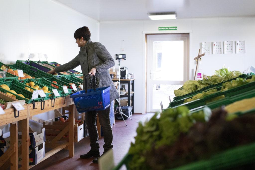 Commerce à la ferme, vente directe, Jardin de Closy, Laetitia Roset